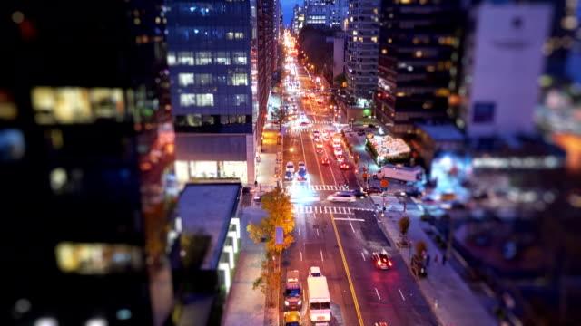 New York city traffic timelapse video