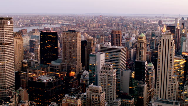 New York city Cty background wide angle stock videos & royalty-free footage