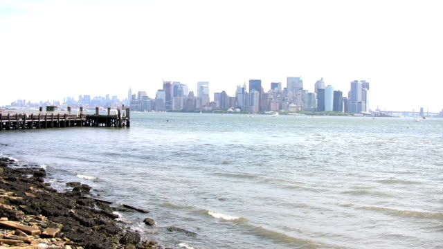 New York City view from Liberty Island video