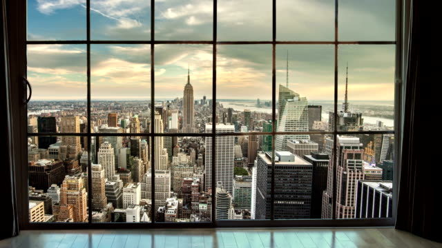 New York City Window View video