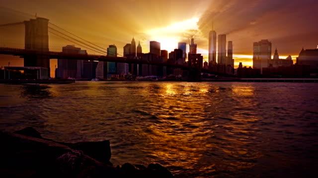 New York Financial District of Manhattan video