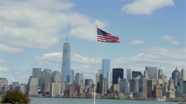 New York Financial District Skyline video