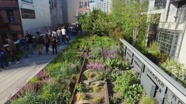 vídeos de stock e filmes b-roll de parque highline em nova iorque - green city