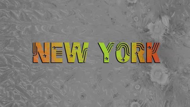 New York London Paris Munich HD video caption headings video