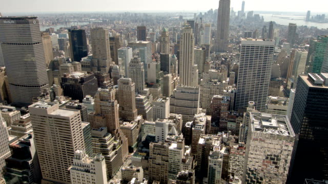 New York Manhattan buildings video