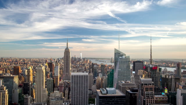 New York Manhattan panorama - Time lapse
