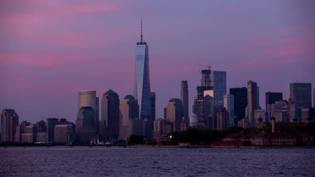 Panorama de Manhattan de Nueva York - lapso de tiempo - vídeo