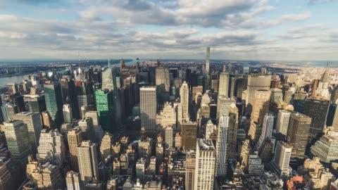 vidéos et rushes de t/l ws ha td new york manhattan skyline - horizon urbain