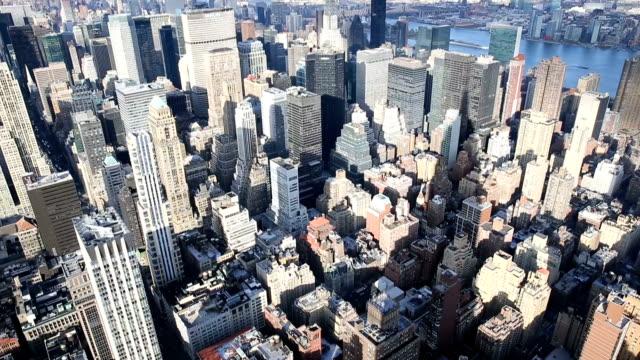New York Midtown Manhattan aerial view. video