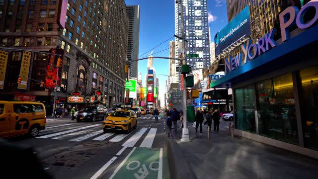 Gebäude des New York Police Department am Times Square – Video