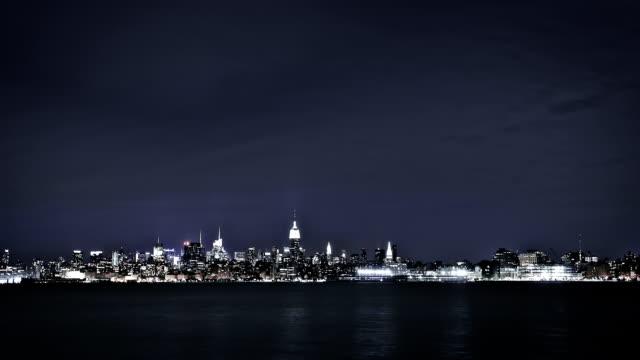 New York Skyline at Night video