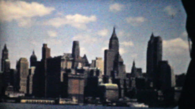 New York Skyline From Tour Boat-1940 Vintage 8mm