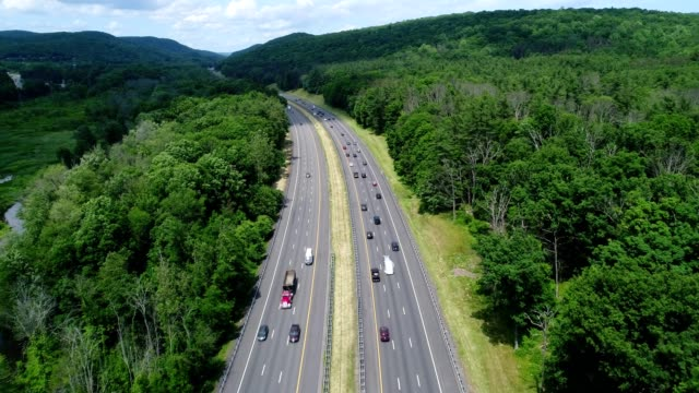 New York State Thruway flying low going north