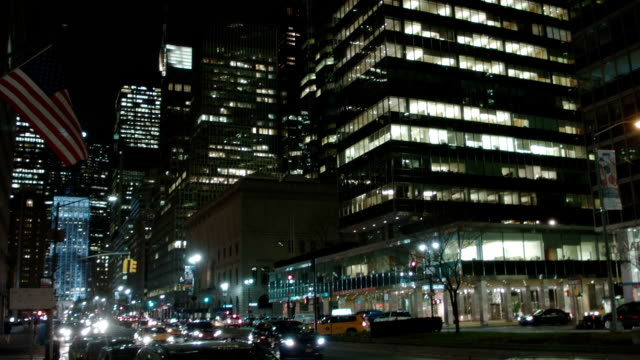 New York street at night video