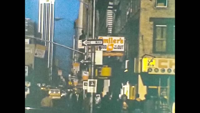NEW YORK 1975: New York streets view in the mid 70's 2 NEW YORK 1975: New York streets view in the mid 70's, vintage footage digitalized in 4k archival stock videos & royalty-free footage