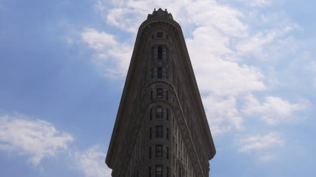 new york summer sky famous flat iron top 4k usa video