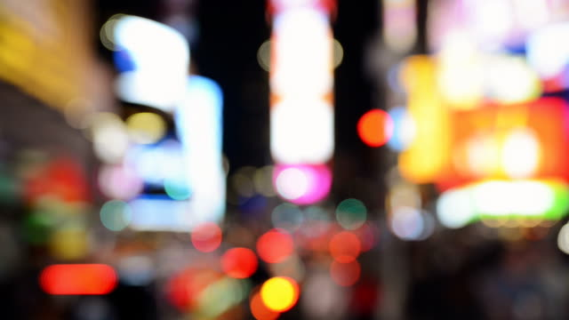 New York Times Square New York Times Square pull focus real time video at night rack focus stock videos & royalty-free footage