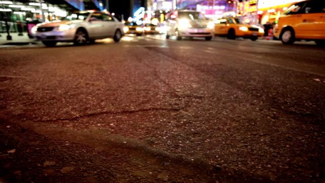 New York traffic at night video