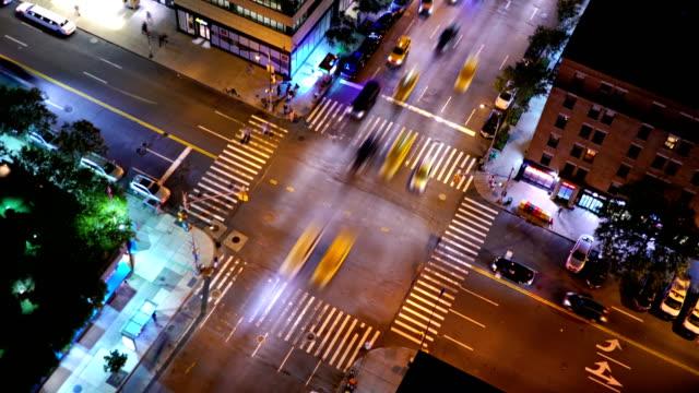 vidéos et rushes de trafic de new york. - carrefour
