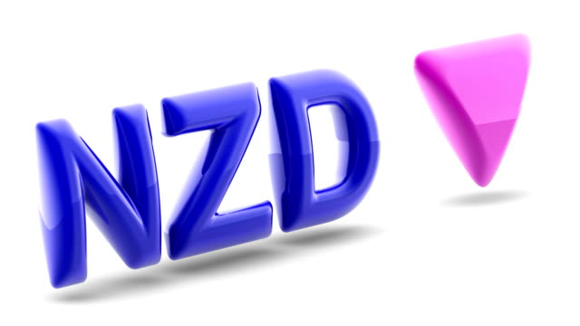 New Zealand dollar sign in white background. 3D Illustration.