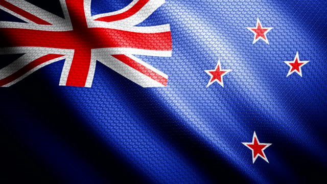 New Zealand flag 4K video