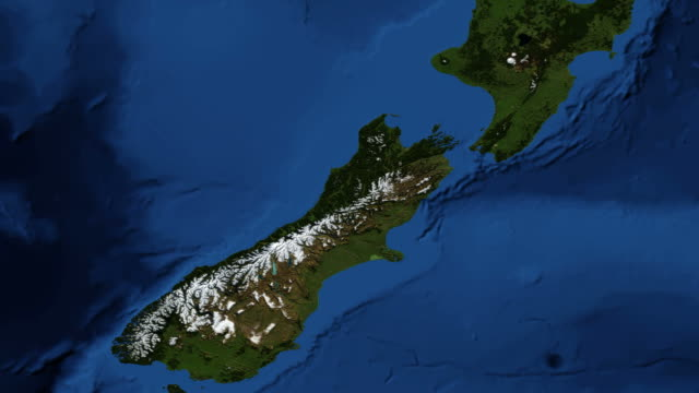 New Zealand from space video