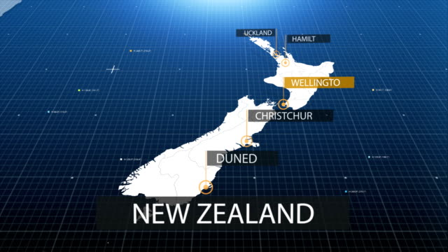 new zealand map with label then with out label video