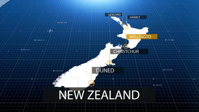 vídeos y material grabado en eventos de stock de mapa de nueva zelanda con etiqueta con etiqueta - nueva zelanda