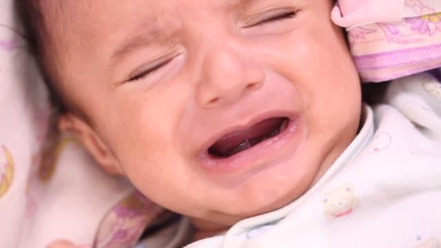 Newborn baby boy crying video