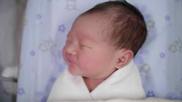 Newborn baby boy(0-1 Months) sleeping