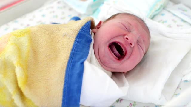 Newborn baby crying video