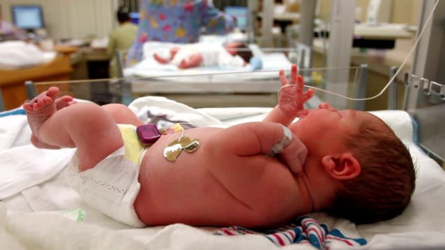 Newborn Baby in Hospital video