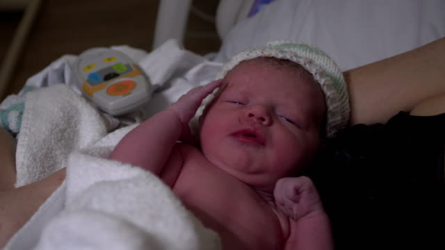 4K: Newborn Baby just born - Childbirth / Labour video
