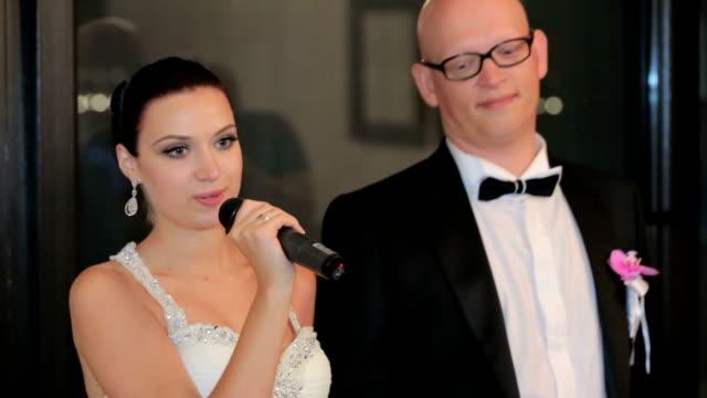 Newlyweds Cutting Wedding Cake video