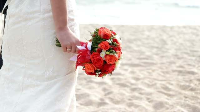 Newlyweds on a beach video