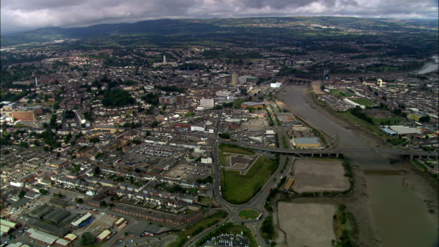 Newport  - Aerial View - Wales, City of Newport, United Kingdom video