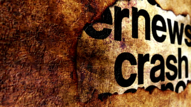 News crash grunge concept video