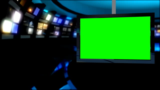 News Studio - Virtual Green Screen Background video