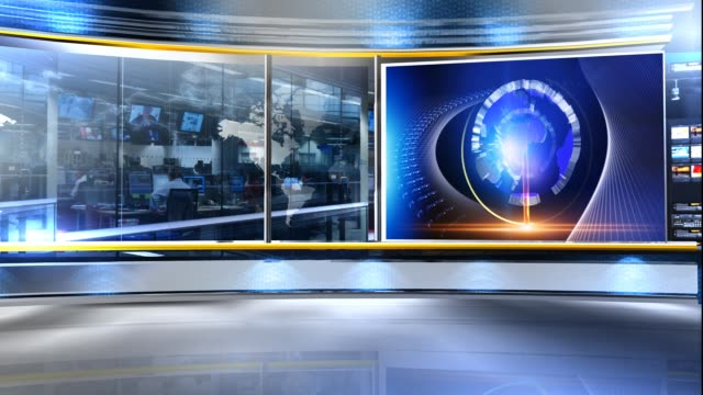 Video News studio virtual set