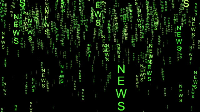 News text code matrix style video
