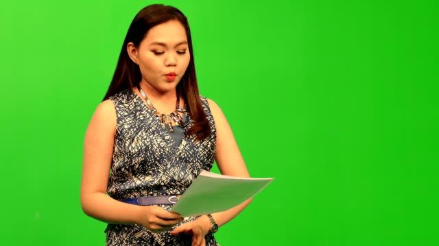 Newscaster Reading A News Bulletin video