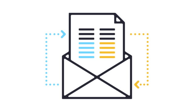 Newsletter Line Icon Animation Motion graphic line animation of e-mail icon on white background. email icon stock videos & royalty-free footage