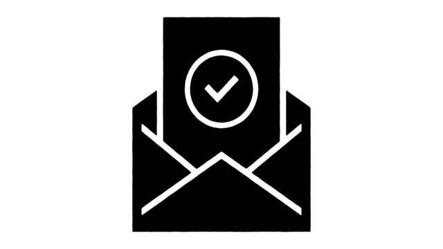 Newsletter Planning Line Drawing & Ink Splatter Animation with Alpha