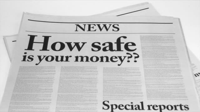 Newspaper Headlines with Bad Economic News video