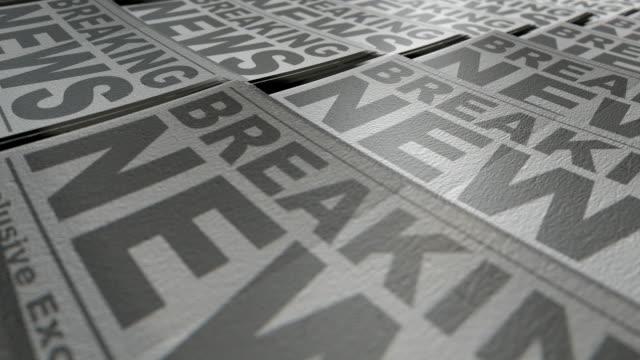 Newspaper press animation video