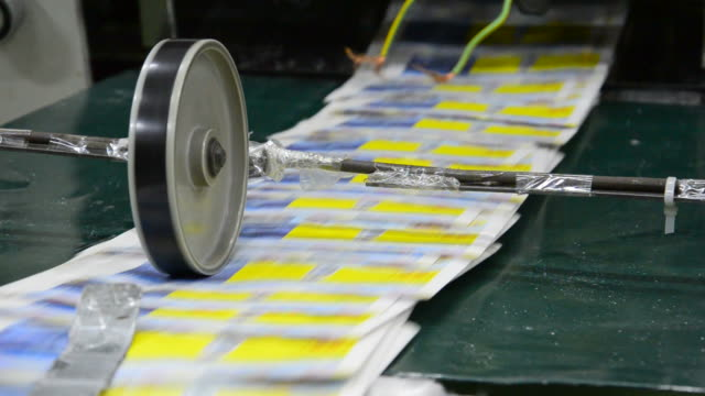 newspaper printing press - stock video close up. - lithograph stock videos & royalty-free footage