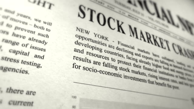Newspaper simulation - STOCK REPORT video
