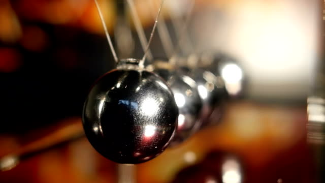 Newton Cradle Bouncing Chrome Balls video