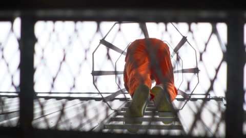 Еngineer at height Еngineer climbing the tower of a oil refinery high up stock videos & royalty-free footage
