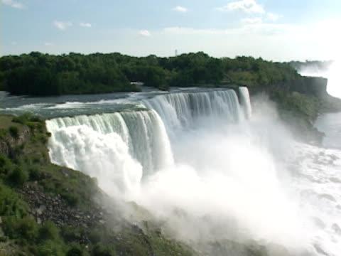 vídeos de stock, filmes e b-roll de niagara falls-americana lado - rio niagara